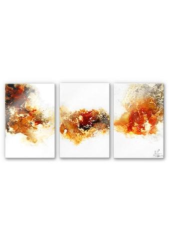 Wall-Art Mehrteilige Bilder »Flüssiges Gold Collage (3-teilig)«, (Set, 3 St.) kaufen