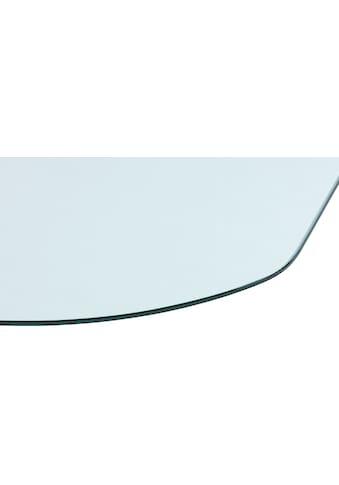 Heathus Bodenschutzplatte, Halbrundbogen, BxT: 85 x 110 cm, transparent, für Kaminöfen kaufen