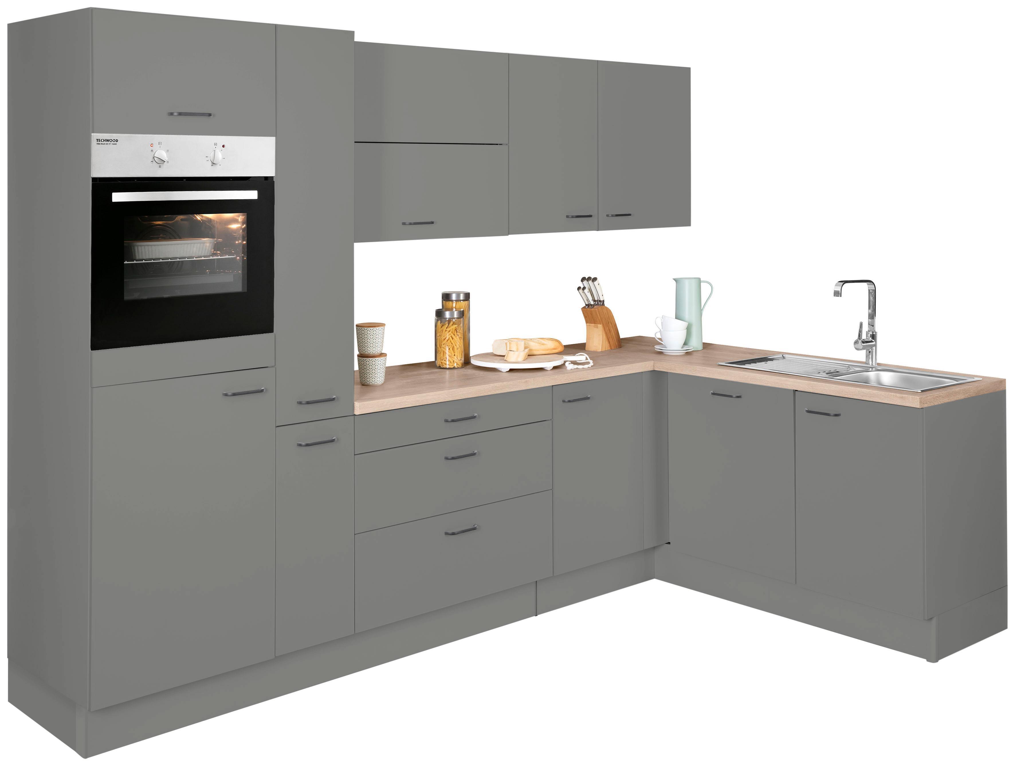 OPTIFIT Winkelküche »Elga« | Küche und Esszimmer > Küchen > Winkelküchen | Grau | OPTIFIT
