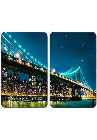"""WENKO Herd - Abdeckplatte """"Brooklyn Bridge"""", Glas, (Set, 2 - tlg.) kaufen"""