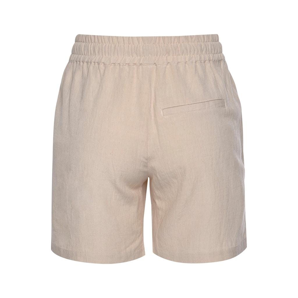 LASCANA Shorts, aus Leinenmix