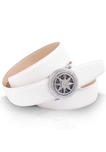 Anthoni Crown Ledergürtel, mit silberfarbener Automatik-Schließe und Windrose,... kaufen
