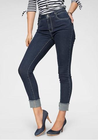 Arizona Skinny - fit - Jeans »Mit Tunnelzug und Ösen« kaufen