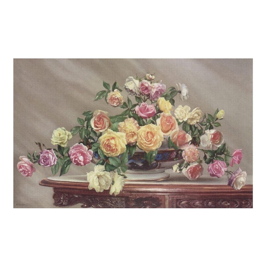 Home affaire Wandbild »Bouquet of roses«, 80/50 cm