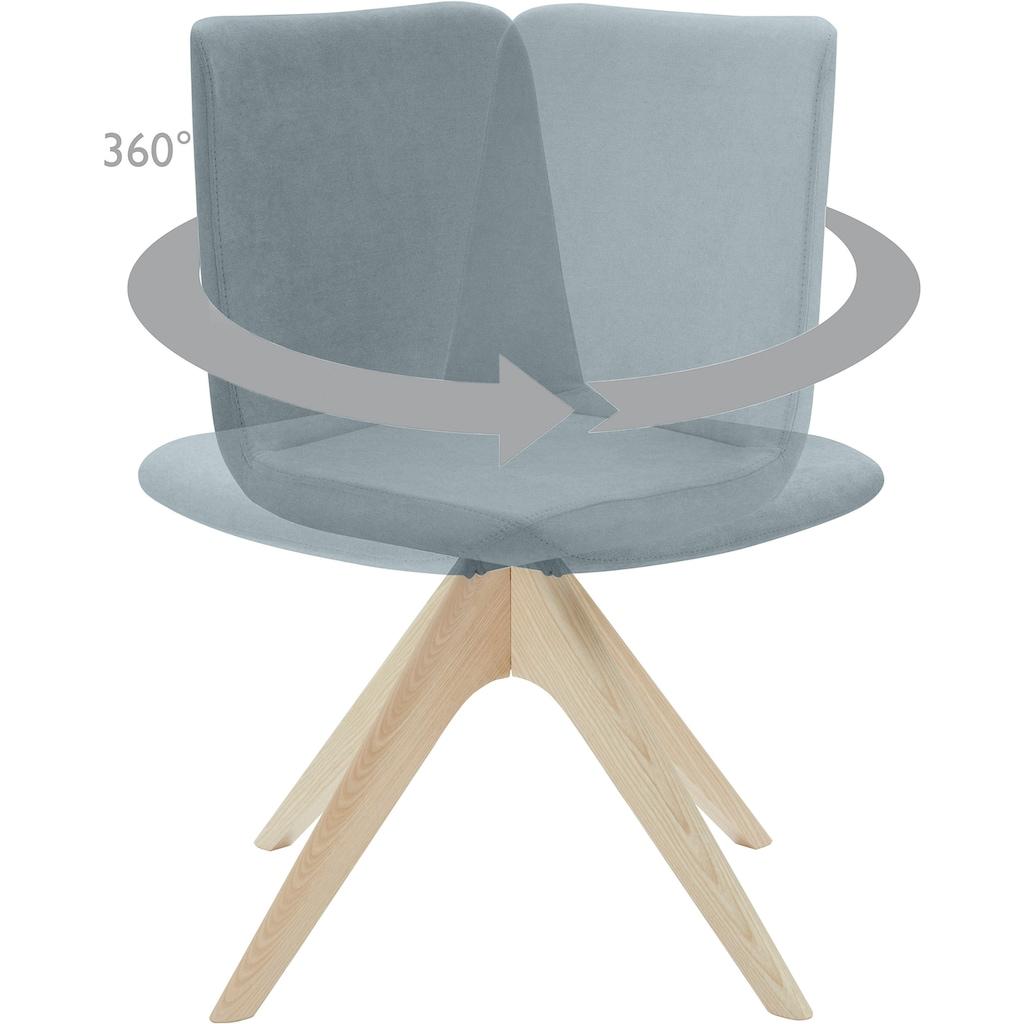 andas Stuhl »Helen«, mit Beinen aus massiver Esche und Drehfunktion