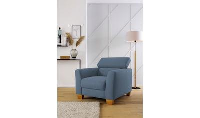 Home affaire Sessel »Steve Premium Luxus«, mit Kopfteilverstellung, belastbar bis 140kg kaufen