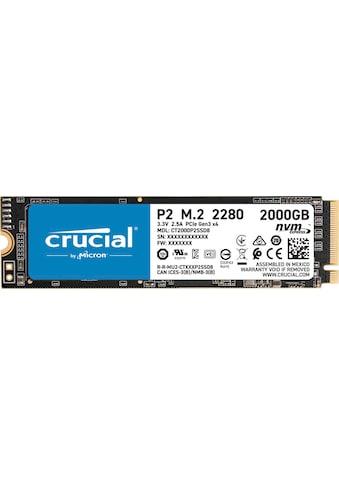 Crucial interne SSD »P2 2TB PCIe M.2 2280SS SSD« kaufen