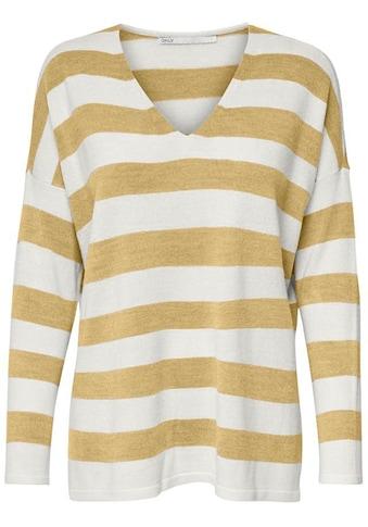 Only V-Ausschnitt-Pullover »ONLAMALIA«, Oversize Look kaufen