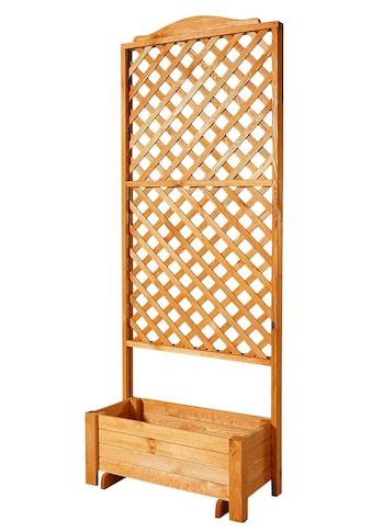 PROMADINO Holzspalier »Romantica«, mit Pflanzkasten, BxTxH: 80x38x210 cm kaufen