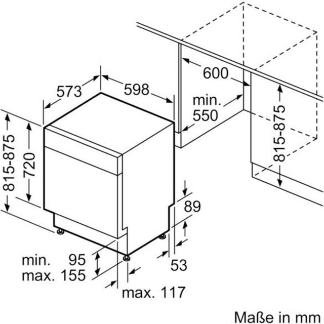SIEMENS Unterbaugeschirrspüler iQ300, 9,5 Liter, 12 Maßgedecke