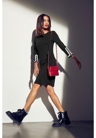 Bruno Banani Jerseykleid, mit Reißern an den Ärmelsäumen - NEUE KOLLEKTION kaufen