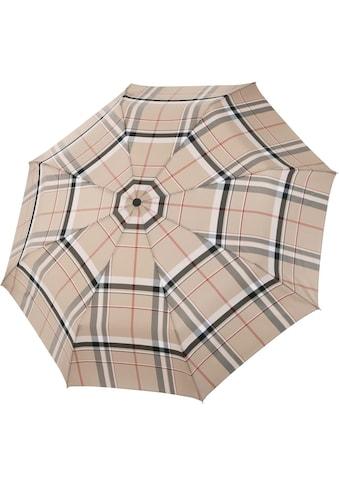 doppler MANUFAKTUR Taschenregenschirm »Serge, karo beige«, handgemachter Manufaktur-Taschenschirm kaufen