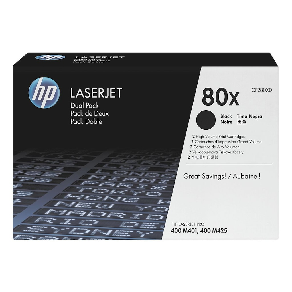 HP Doppelpack Druckkassetten HP 80X