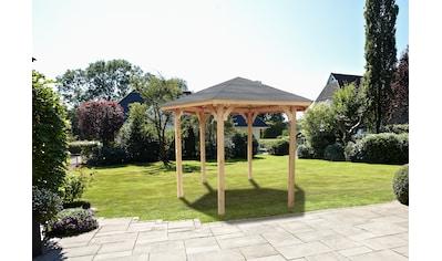 WOLFF FINNHAUS Holzpavillon »Kreta 6«, BxT: 366x327 cm kaufen