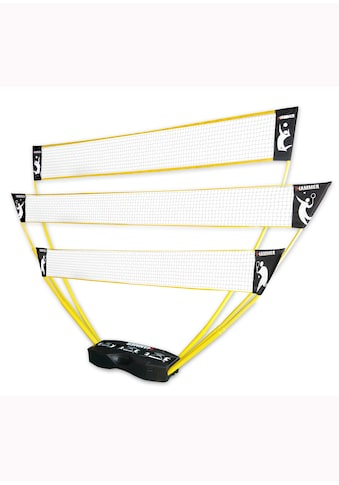 Hammer Tennisnetz, (Tragekoffer, Netze, Teleskop Netzpfosten, Bodenanker), 3in1... kaufen