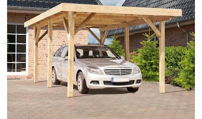 Kiehn-Holz Einzelcarport »KH 101«, Holz, 272 cm, grün, Alu-Dach kaufen