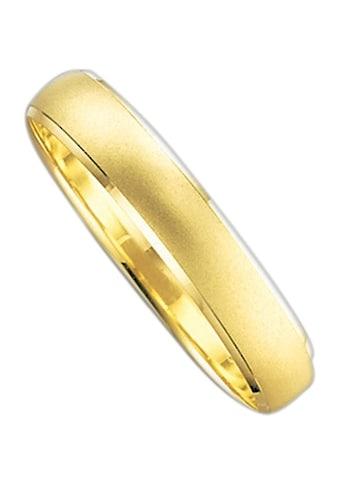 Firetti Trauring mit Gravur »4,0 mm, sandmatt, Diamantschnitt, Gelbgold« kaufen