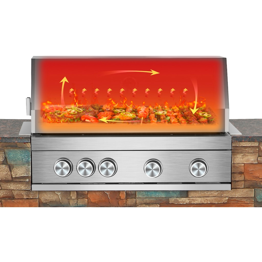 El Fuego Gasgrill »Grillküche Built-in«, BxTxH: 147x68x130 cm