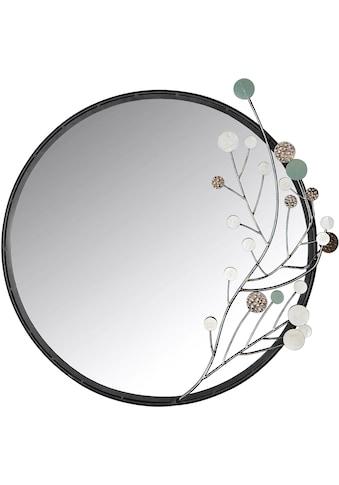 GILDE Wandspiegel »Twig«, (1 St.), Dekospiegel, aus Metall, rund, handgefertigt,... kaufen