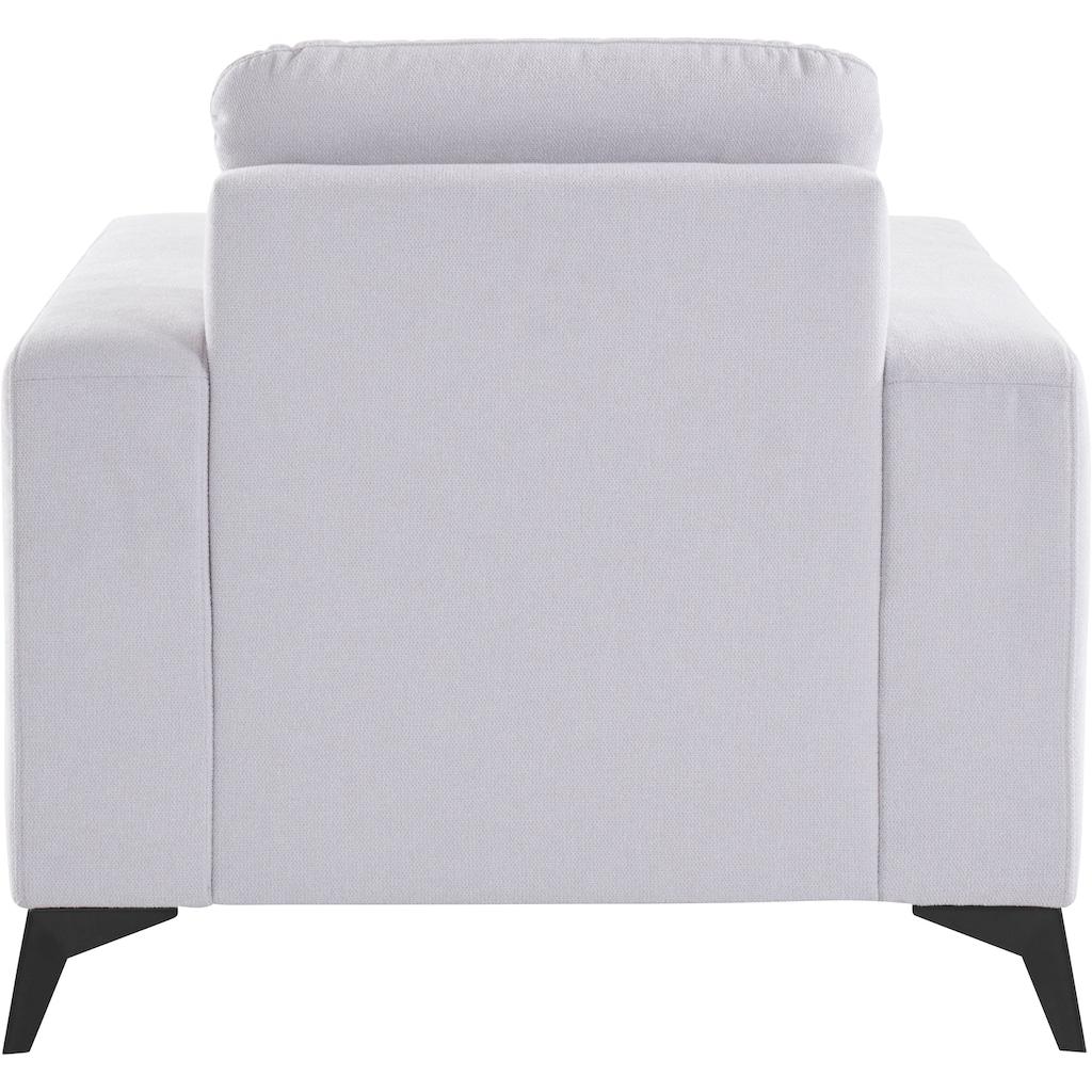 """Places of Style Sessel »Lolland«, mit Federkern, passend zur Serie """"Lolland"""", wahlweise auch mit feucht abwischbarem Bezug"""