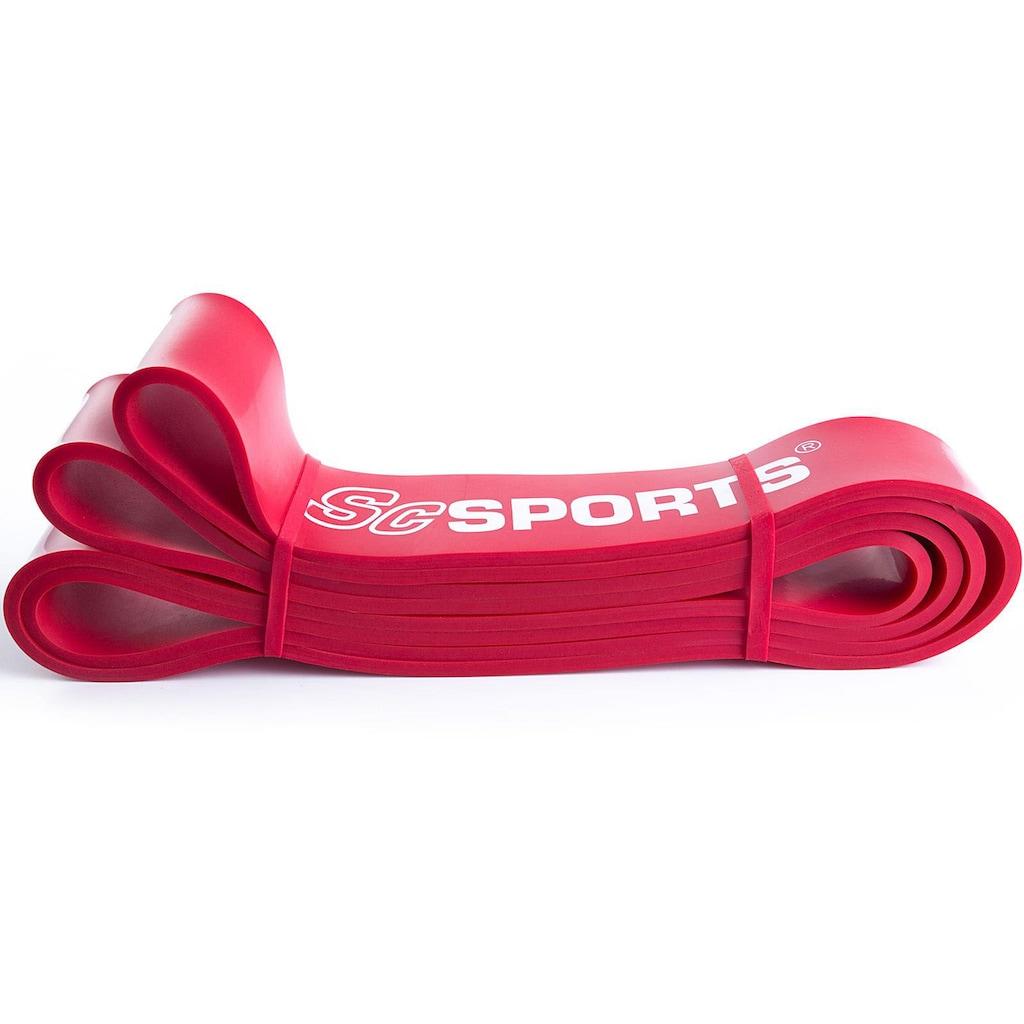 ScSPORTS® Trainingsband »Fitnessband 208 x 4,5 cm rot«