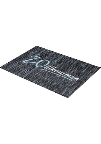 ASTRA Fußmatte »Felicido 803«, rechteckig, 6 mm Höhe, Schmutzfangmatte, mit Spruch,... kaufen