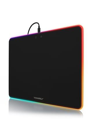 Titanwolf RGB Gaming Mauspad mit Stoffoberfläche »Neon Precision Mousepad | 340 x 245 mm« kaufen