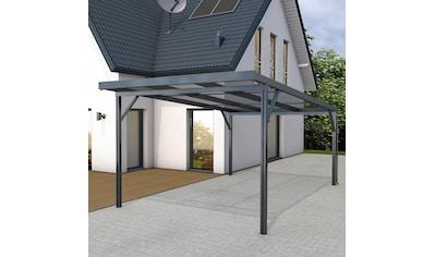 GUTTA Einzelcarport »Premium«, Aluminium, 293,4 cm, anthrazit, BxT: 309x562 cm, Dacheindeckung Polycarbonat klar kaufen
