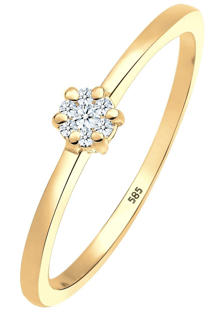 Diamore Verlobungsring »0612341813« | Schmuck > Ringe > Verlobungsringe | Goldfarben | DIAMORE