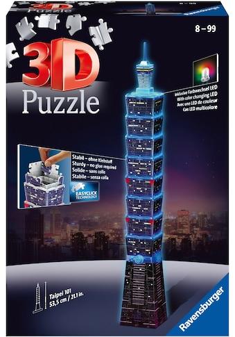 Ravensburger 3D-Puzzle »Taipei 101 bei Nacht«, mit Leuchtmodul inkl. LEDs; Made in Europe, FSC® - schützt Wald - weltweit kaufen