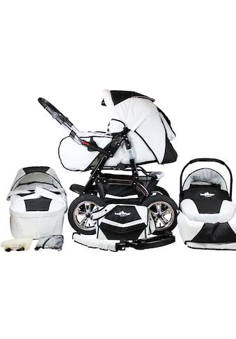 """bergsteiger Kombi - Kinderwagen """"Milano, black & white, 3in1"""", (10 - tlg.) kaufen"""