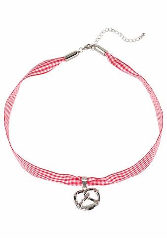 J.Jayz Halsband »kariert, mit Brezelanhänger rot/weiß, Trachten - Look« kaufen