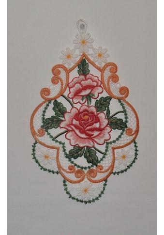 Stickereien Plauen Fensterbild »Rosen« kaufen