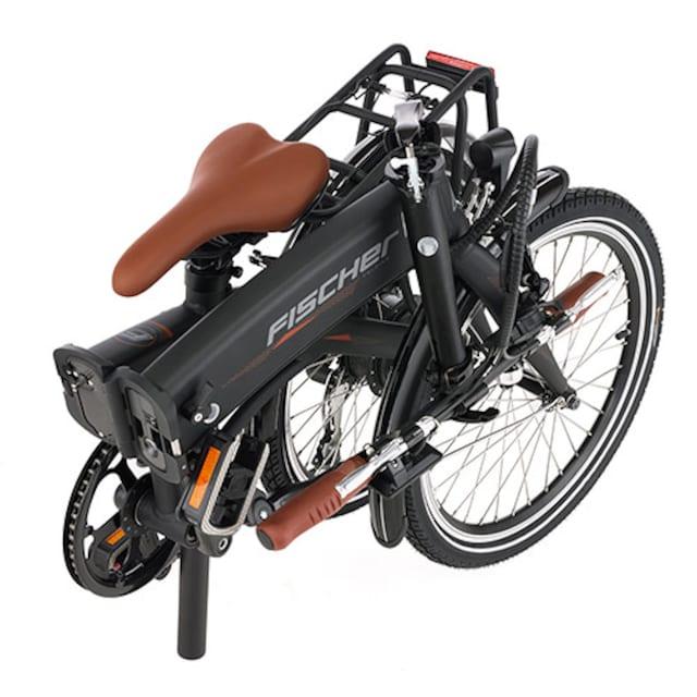FISCHER Fahrräder E-Bike »FISCHER e-Faltrad FR18«, 7 Gang Shimano ACERA SGS Schaltwerk, Kettenschaltung, Heckmotor