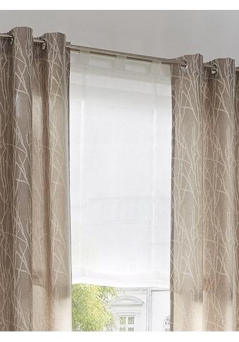 my home Raffrollo »Malin«, mit Schlaufen, Farbe: Wollweiss kaufen