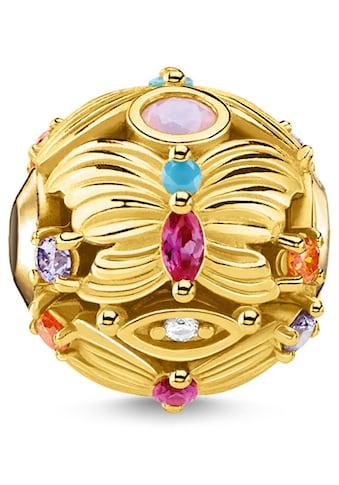 THOMAS SABO Bead »Schmetterling gold, K0342-488-7«, mit synth. Korund, Glassteinen und Zirkonia kaufen