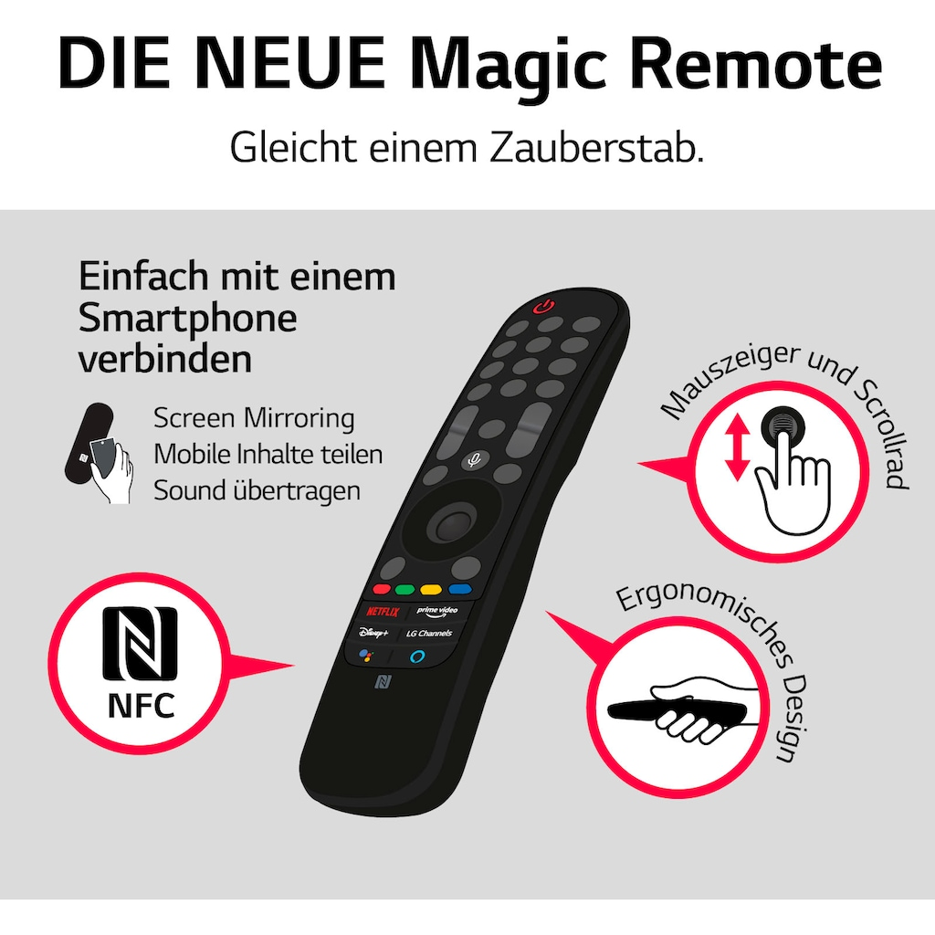 "LG LCD-LED Fernseher »65NANO889PB«, 164 cm/65 "", 4K Ultra HD, Smart-TV, (bis zu 120Hz)-Local Dimming-α7 Gen4 4K AI-Prozessor-Sprachassistenten-HDMI 2.1"