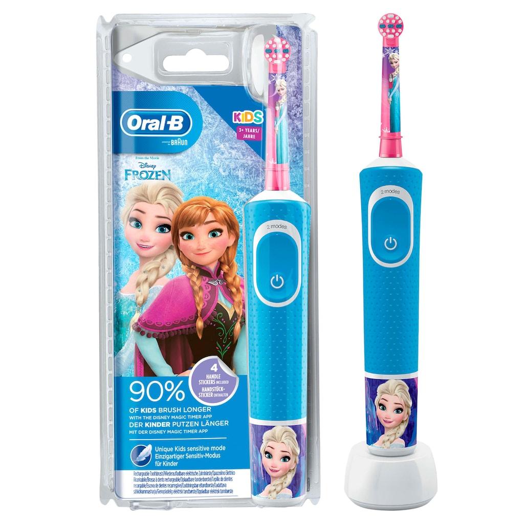 Oral B Elektrische Kinderzahnbürste »Frozen Elektrische«, 1 St. Aufsteckbürsten