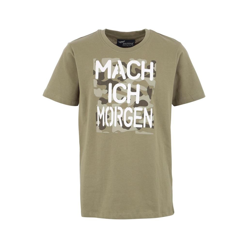Arizona T-Shirt »Mach ich morgen«, Druck