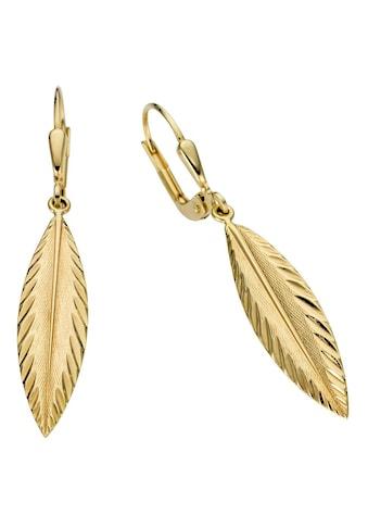 Firetti Paar Ohrhänger »Feder, glanz, mit Struktur« kaufen