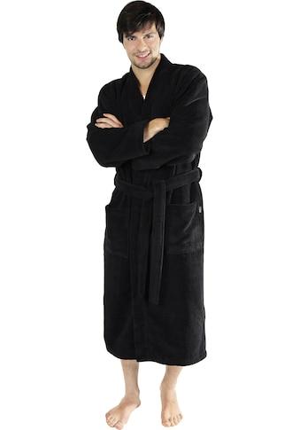 Wewo fashion Herrenbademantel »1017«, (1 St., mit Gürtel), in bequemer Langform kaufen