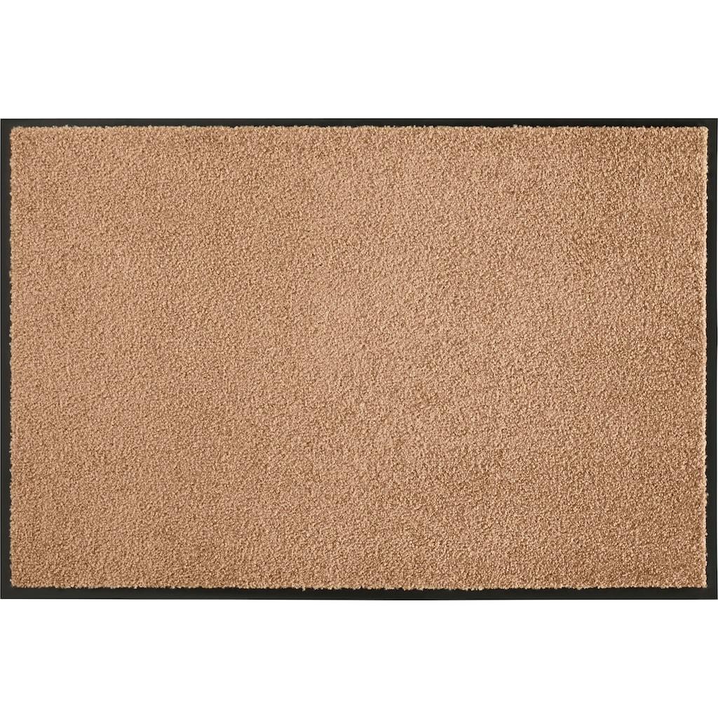 HANSE Home Fußmatte »Wash & Clean«, rechteckig, 7 mm Höhe, Schmutzfangmatte, In- und Outdoor geeignet, waschbar