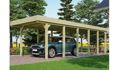 Skanholz Einzelcarport »Friesland«, Fichtenholz, 270 cm, grün kaufen