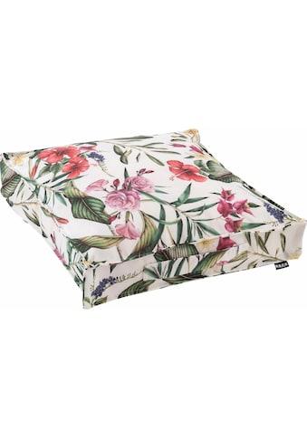 H.O.C.K. Sitzkissen »Beach Life«, mit Blumen und Blättern kaufen