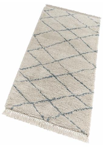 Hochflor - Läufer, »Primrose«, freundin Home Collection, rechteckig, Höhe 35 mm, maschinell gewebt kaufen