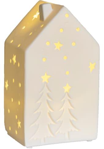 VALENTINO Wohnideen LED Dekoobjekt »Lichthaus Motiva«, Warmweiß, aus Porzellan, mit... kaufen
