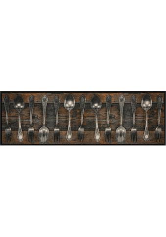 Küchenläufer, »Fork & Spoon«, Zala Living, rechteckig, Höhe 5 mm, maschinell getuftet kaufen