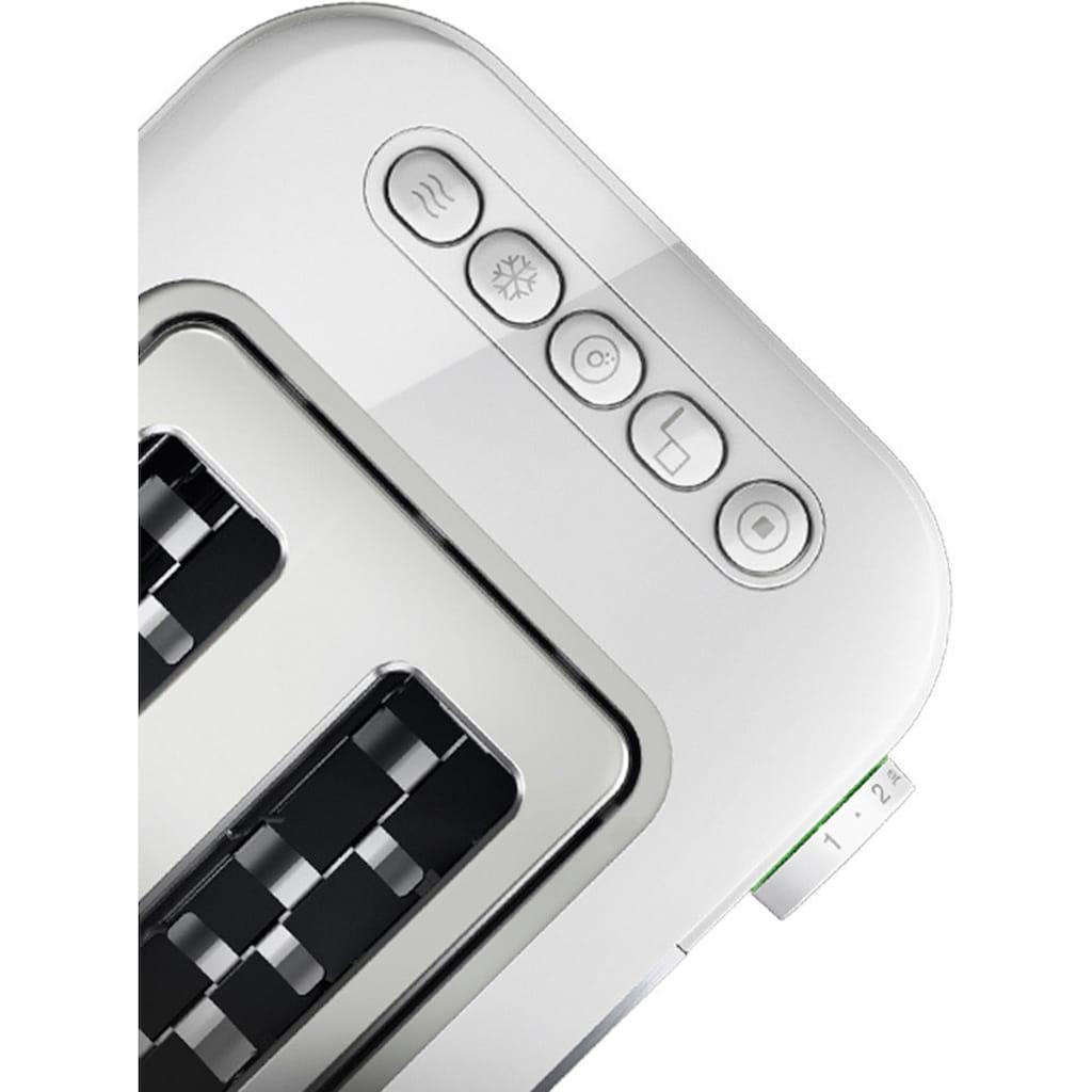 Braun Toaster »HT 5010.WH weiß silber ID Collection«, 2 kurze Schlitze, 1000 W