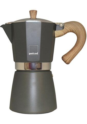 gnali & zani Espressokocher »Venezia«, Aluminium mit Softtouch-Griff in Holzoptik,... kaufen