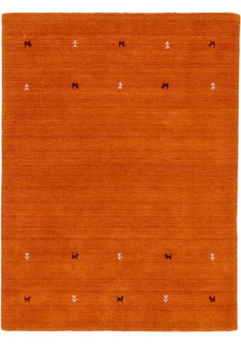 carpetfine Wollteppich »Gabbeh Uni«, rechteckig, 15 mm Höhe, reine Wolle, handgewebt,... kaufen